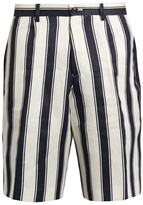 TOMORROWLAND Relaxed-fit striped linen shorts