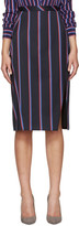 Altuzarra Navy Striped Monroe Skirt