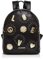 Love Moschino Daisy Patchwork Leather Backpack