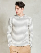 Discovered Grey L/S Border Waffle T-Shirt