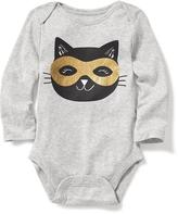 Old Navy Black Cat Mask-Graphic Bodysuit for Baby