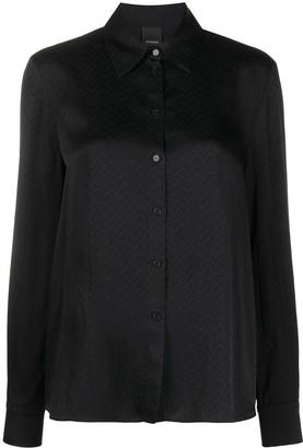 Pinko Zigzag-Print Satin Shirt