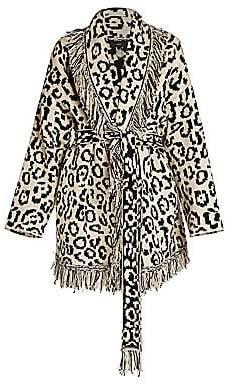 Alanui Women's Macula Raw Cotton Cardigan