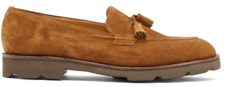 John Lobb Callington Suede Tassel Loafers - Mens - Brown