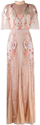 Temperley London Firebird flower embroidery gown