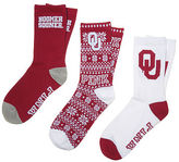 PINK University Of Oklahoma 3-Pack Crew Socks