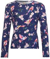 Yumi Navy Bird & Blossom Print Top