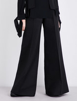 Antonio Berardi Wide-leg cotton and wool-blend trousers