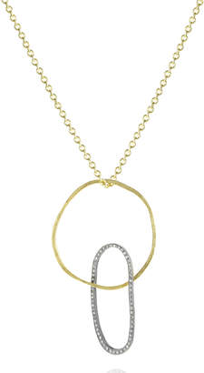 Todd Reed Two-Tone Diamond Double-Hoop Necklace