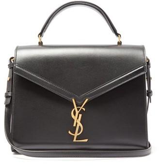Saint Laurent Cassandra Medium Leather Cross-body Bag - Black