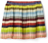 Gap Crazy stripe pleated skirt