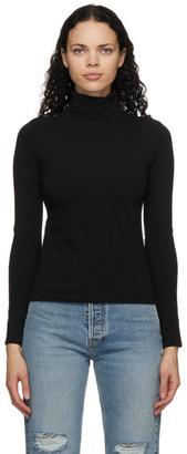 RE/DONE Black 60s Long Sleeve Turtleneck