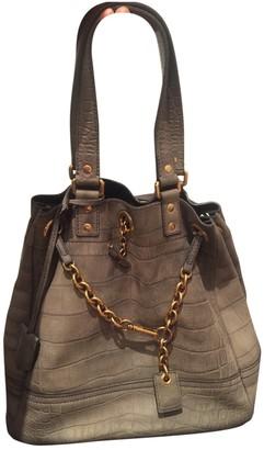 Saint Laurent Grey Suede Handbags