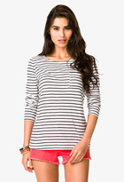 FOREVER 21 Long Sleeve Striped Tee