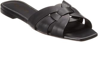 Saint Laurent Tribute Leather Sandal