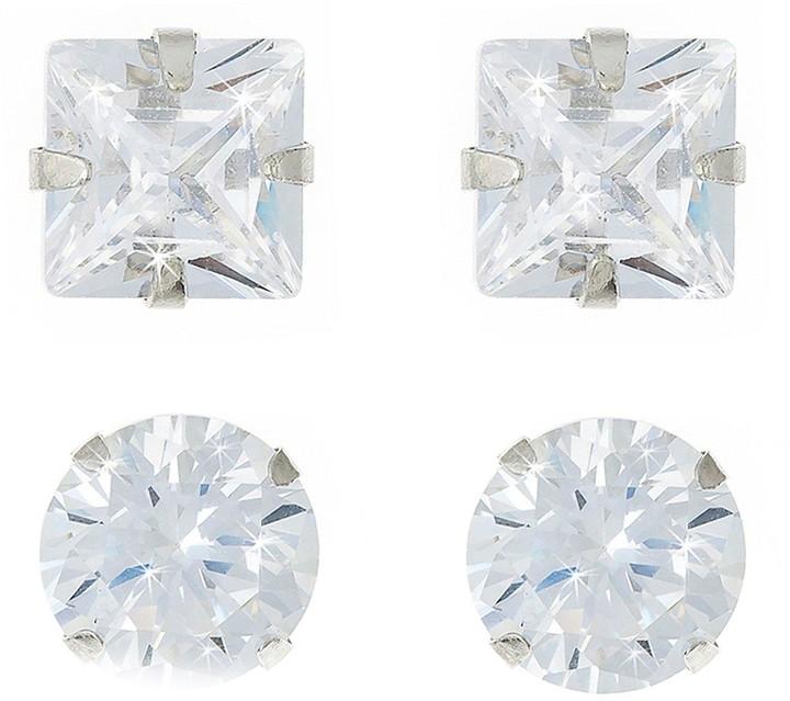 71840b4d8 Square Cubic Zirconia Earrings - ShopStyle UK