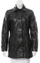 Burberry Leather Quilted Coat