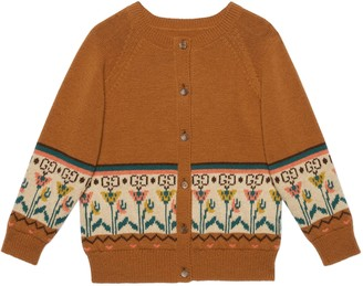 Gucci Children's GG flowers wool cardigan