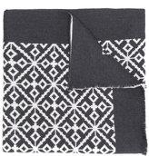 Versace patterned intarsia scarf - men - Silk/Wool/Virgin Wool - One Size