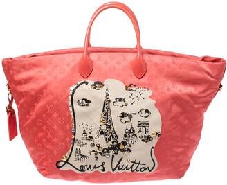 Louis Vuitton Coral Monogram Nylon Nouvelle Vague Beach Bag