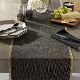 CB2 Fray Cotton And Jute Table Runner