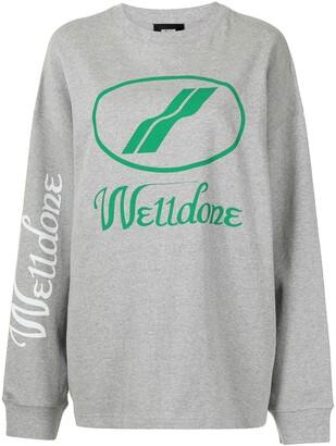 we11done logo-print long-sleeve T-shirt