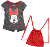 Children's Apparel Network Minnie Mouse Tee & Heart Backpack - Girls