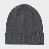 Paul Smith Men's Grey Merino Wool Beanie Hat
