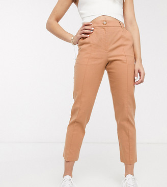 Asos DESIGN Petite ultimate linen cigarette suit pants