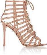 Gianvito Rossi WOMEN'S CAGED LACE-UP SANDALS-BEIGE SIZE 9