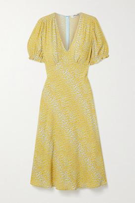 Diane von Furstenberg Idris Leopard-print Crepe Midi Dress - Multi