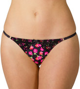 Candies Juniors' Candie's® Microfiber Lace-Trim G-String Thong