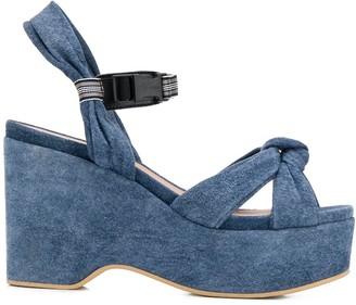 A.F.Vandevorst Platform Suede Sandals
