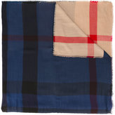 Burberry checked scarf - men - Silk/Cashmere/Wool/Modal - One Size