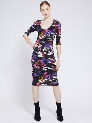 Alice + Olivia Delora Scoop Neck Midi Dress