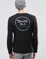 Brixton Long Sleeve T-shirt With Back Print
