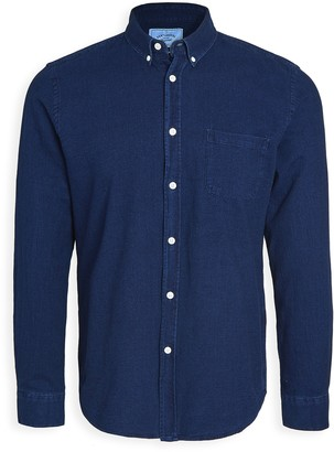 Portuguese Flannel Indigo Long Sleeve Button Down Shirt