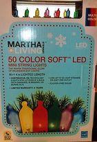 Christmas Led Lights 50 Multi-color Mini Strand Martha Stewart Living Outdoor