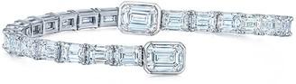 Kwiat 18kt white gold diamond Legacy Orbit bangle bracelet