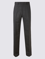M&S Collection Big & Tall Textured Flat Front Trousers