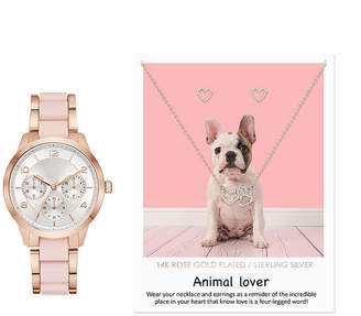 Alexis Bendel Animal Lover Womens Two Tone 3-pc. Watch Boxed Set-7871r-18-F01