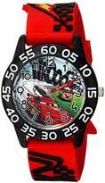 Disney Boy's '' Quartz Plastic Casual Watch, Color:Red (Model: WDS000024)