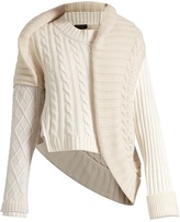 Burberry Contrasting-knit cashmere sweater