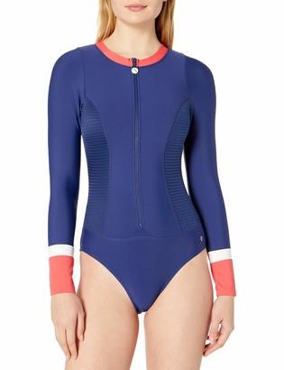 Next Women's Malibu Zip Long Sleeve One Piece Swimsuit