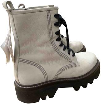 Brunello Cucinelli White Leather Boots