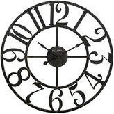 Bulova Gabriel Wall Clock in Rustic Brown
