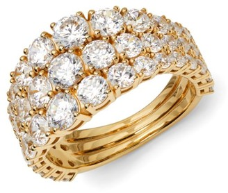 Adriana Orsini Rockslide 18K Yellow Goldplated Sterling Silver & Cubic Zirconia Ring