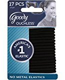 Goody Ouchless Hair Elastics Black 17 ea (Pack of 2)