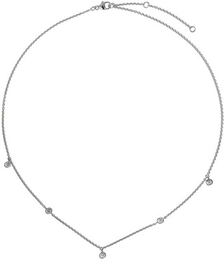 De Beers 18kt white gold My First five diamond necklace
