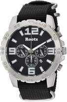 Roots Men's 'Core' Quartz Stainless Steel and Nylon Casual Watch, Color: (Model: 1R-LF604BA7B)